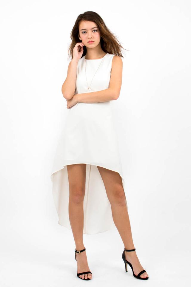 Miuccia Assymmetrical Runway Dress - White