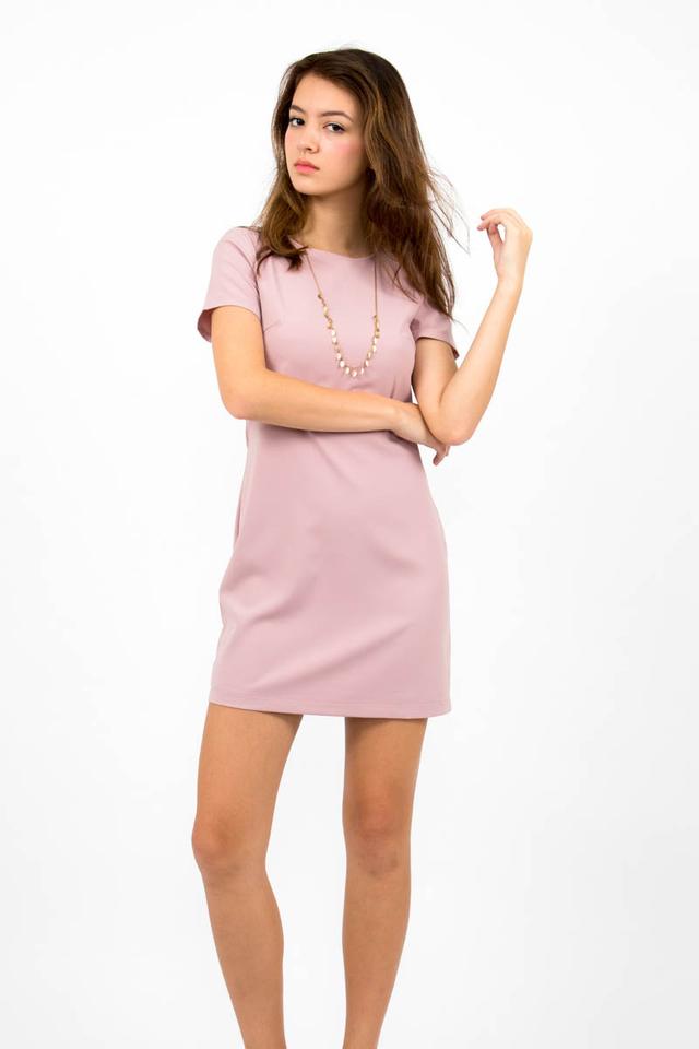 Loulou Classic Shift Dress - Dusty Pink
