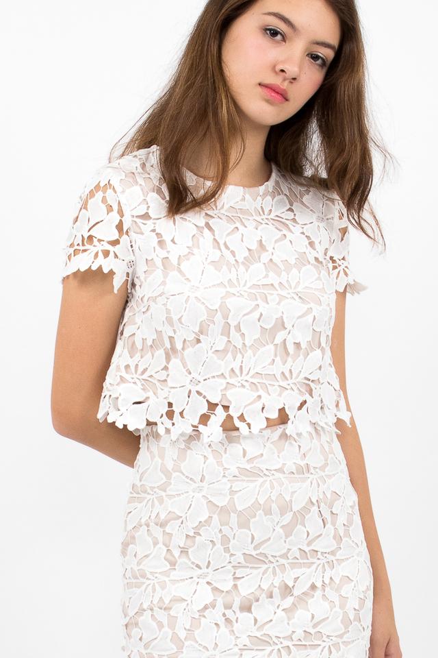Lara Crochet Top - White