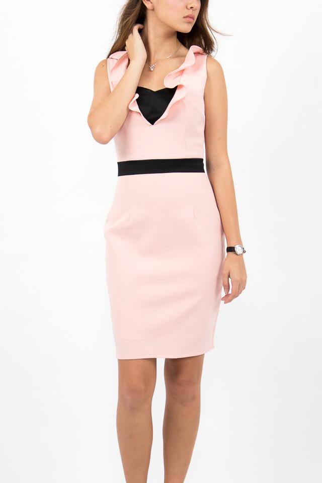 Fabiola Bustier Bandeau Dress - Blush Pink