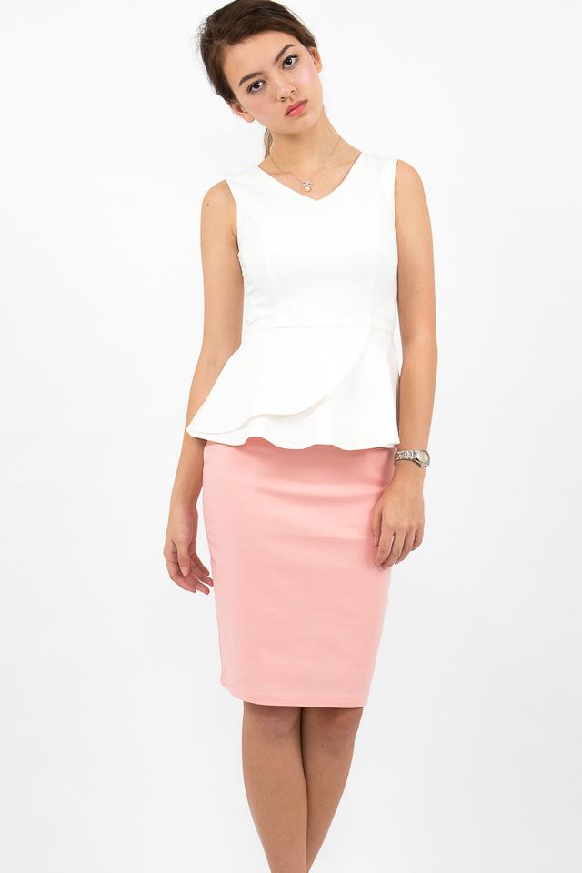 Céline High Waisted Pencil Skirt - Candy Pink