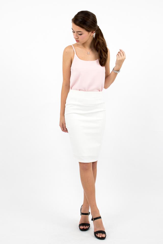 Inez Staple Spag Top - Pink