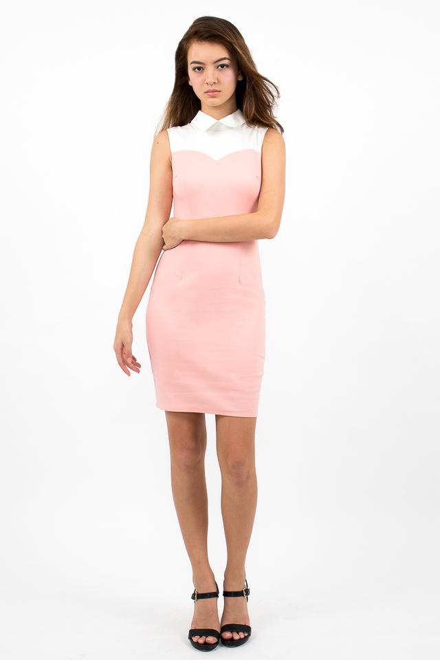 Ambrosio Sweetheart Collar Dress - Candy Pink