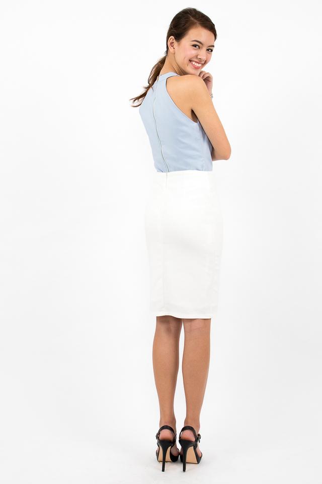 Nina Halter Zipper Top - Sky Blue